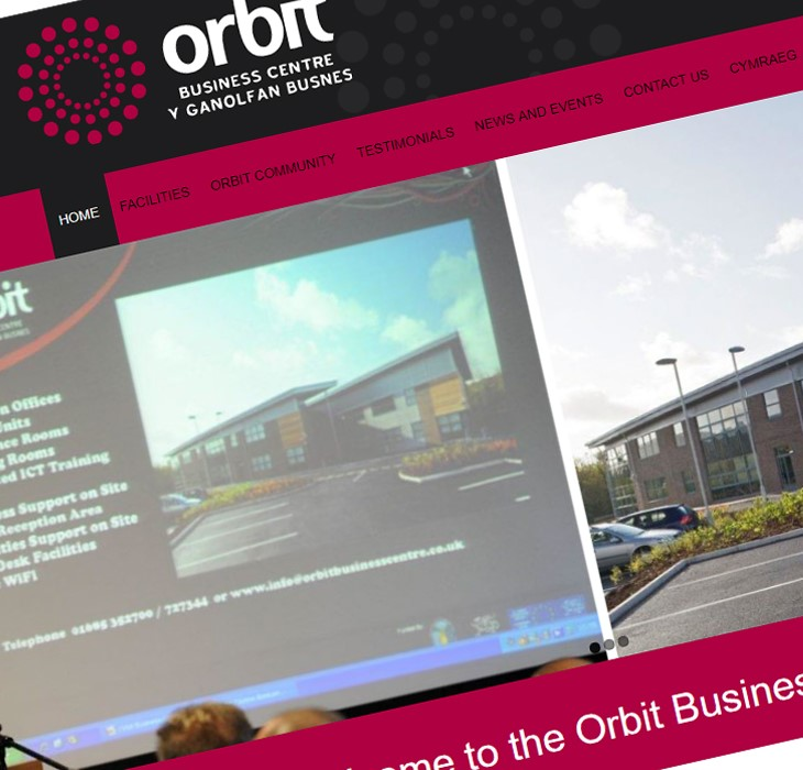 Snapshot of the Orbit Business Centre website