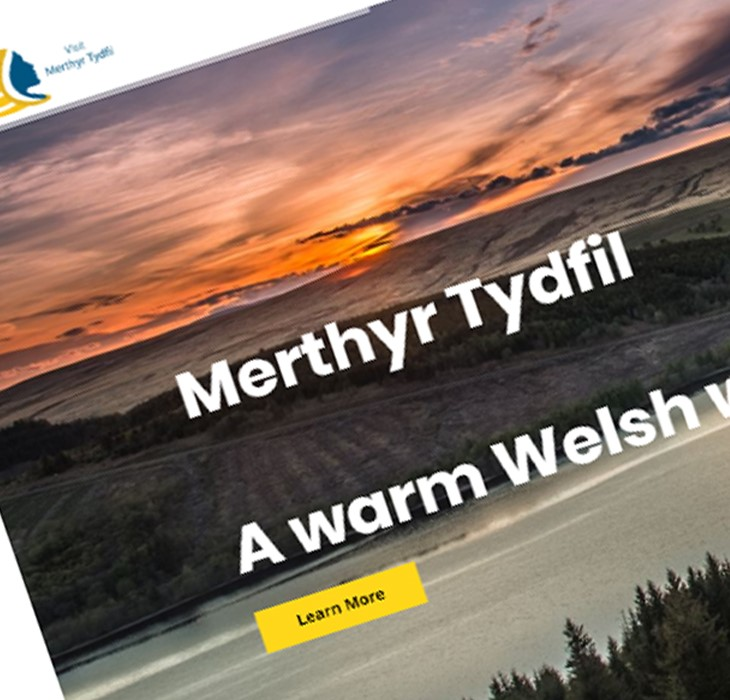Snapshot of Visit Merthyr website