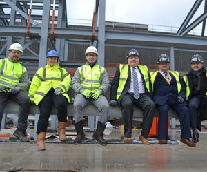 Bus station steel structure signed as part of time capsule celebration